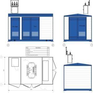 Комплектная трансформаторная подстанция КТП 400/10(6)/0,4кВ (без трансформатора)